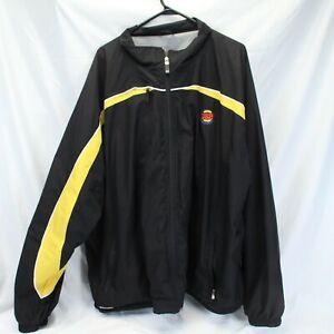 Burger King Crew Jacket Vintage Logo Striped Employee Uniform XXL Holloway