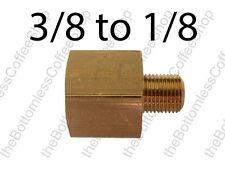 """Brass Adaptor 3/8"""" BSP (G3/8) to 1/8"""" BSP (G1/8) Adapter Reducer Converter"""