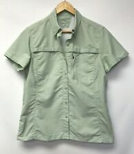 LL Bean Womens Size Small Activewear Top Vented Fishing Hiking Outdoors Green