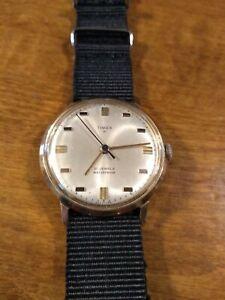 Vtg 1968 Timex 21jewel Men's watch, 65247268 running windup Serviced new band L