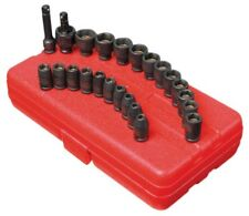 "Sunex 23pc 1/4"" SAE Metric 6pt Point Magnetic Impact Sockets Set Tools 1818"