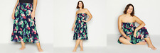 PRINCIPLES UK Plus Size 20 Navy Floral Print Tiered Multiway Maxi Skirt rrp £25