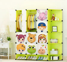 NEW Childrens Wardrobe Kids Character Design Cubes Shoes Corner Storage Box