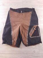Descente DNA Vapor Mens Size Unknown CASUAL Shorts  Stretch Brown Black (T199)