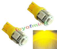 2 X T10 194 168 Canbus Amber 5 SMD LED Wedge Bulb Light
