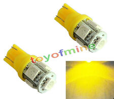2 X T10 194 168 Canbus Ambre 5 LED SMD Wedge Ampoule