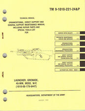 Grenade Launcher, 40MM, M203, Maintenance and Repair Parts Manual (1985 edition)