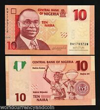 NIGERIA 10 Niara P33 NEW 2006 WOMAN MAN HORSE MAP UNC CURRENCY MONEY BANK NOTE