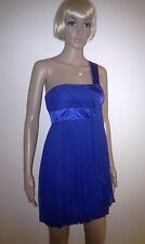 WAREHOUSE One Shoulder Silk Evening Dress. Cocktail Party,Wedding, Prom  SIZE 8