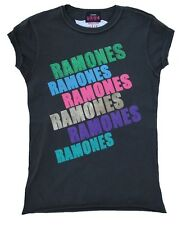 Amplified THE RAMONES Strass Rock Star Vintage cuciture esterno T-SHIRT S