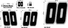 RACE CAR NUMBERS & NAME CUSTOM  BLACK WHITE GRAY BIG SET DIECUT VINYL NEW!
