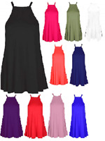 Ladies Jersey Lightweight Camisole Strappy Vest Floaty Tunic Top UK Size 8-26
