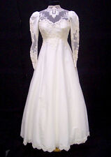 ABITO SPOSA matrimonio Gown Evening Wedding  Dress  TAGLIA  38-40