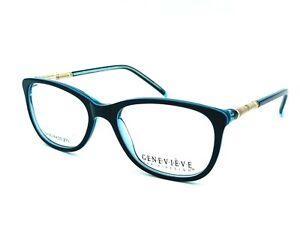 GENEVIEVE PARIS DESIGN ADVANCE BLUE/GOLD WOMEN EYEGLASSES FRAME RX 51-17-135