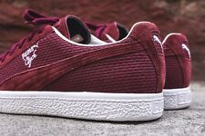 PUMA Clyde MIJ MADE IN JAPAN IL VINO DI BORGOGNA IN PELLE SCAMOSCIATA UK 7 US 8 Blaze Glory OG Atmos