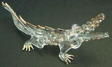 Vidrio Cocodrilo Cocodrilo Reptil Pintado Oro Ornamento De Vidrio Transparente Cristal animal