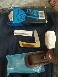NOS GERBER Knife FOLDING SPORTSMAN l w/ Original Sheath Box Papers Leather