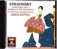 STRAVINSKY- Petrushka (1947)- CD- Simon Rattle- Peter Donohoe/Robert Johnson