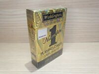 Waddingtons of London Number 1 Gold Playing Plastic Card - Gold Holographic Deck
