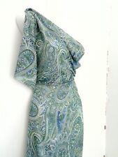 PAISLEY  Crepe Georgette , Meterware, Kleiderstoff,blau, grün