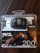 Petzl Zipka Black 200 Lumens LED Hybrid Concept Headlamp E93ABA New!!