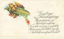 We Need You on Thanksgiving Day Prose Postcard 1917 corn autumn leaves embossed