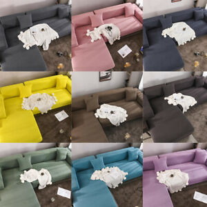 1pc Square Stretch Elastic Pillow Case Throw Back Cushion Cover Sofa Bed Decor