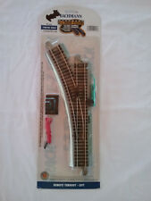 Bachmann BAC44561 HO-Scale Left-Hand Remote Switch E-Z Track Nickel-Silver Gray