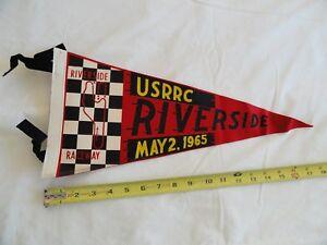 Vintage Racing Pennant 1965 USRRC Riverside Raceway
