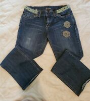 "Women's Junior's ""Yountique"" Embellished Bootcut Jeans (Size 13)"