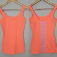 Lululemon Womens Embracer Tank Top Mesh Pocket In Hot Coral and Pink Size 6