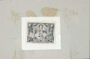 J) 1920 SLOVAK REPUBLIC, DIE PROOF, AMERICAN BANK NOTE, WOMEN, SHIELD, XF