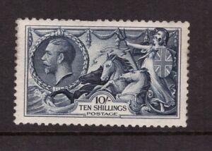 1934 Re-engraved Seahorse 10 shillings Indigo  SG 452 N75 MINT MNH