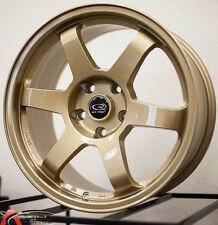 17X8 +35 ROTA GRID GOLD 5X100 RIM FIT SCION XD TC FR-S GT86 COROLLA GTS CELICA