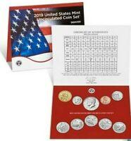 2019 D Uncirculated Set Sealed Mint OGP 10 Coins in sealed set Denver Set