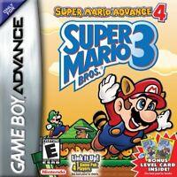 Super Mario Advance 4: Super Mario Bros 3 - Nintendo Game Boy Advance GBA