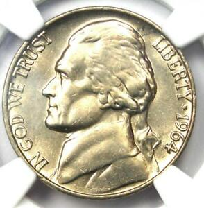 1964 Jefferson Nickel 5C Coin - NGC MS66 5FS - Rare Full Steps - $1,600 Value!
