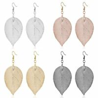 Women Earrings Boho Natural Leaf Drop Dangle Ear Hook Jewelry Party Wedding Gift