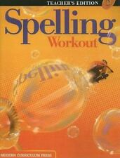 Spelling Workout Level D by Phillip Trocki (2003, Hardcover, Revised, Teacher's…