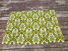two+vintage+1970%27s+curtains+green%2C+yellow%2C+beige+floral