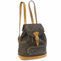 LOUIS VUITTON MONTSOURIS MM BACKPACK BAG MONOGRAM PURSE M51136 AK38154d