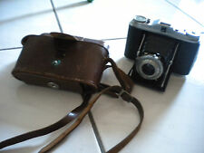 AGFA ISOLETTE V Folding Film Camera Leather Case Pronto 58 mm con Agnar 4.5