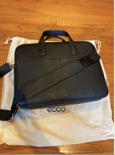 ECCO SUNE BLACK LEATHER LAPTOP BAG (RETAIL: $300)