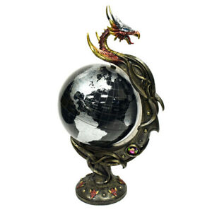 "Dragon Spinning Desk Globe 18.5""--FREE SHIPPING!! IMPRESSIVE Piece!"