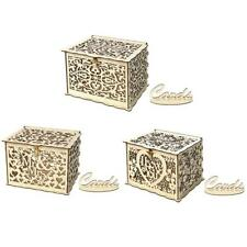 Wood Gift Case Money Box DIY Wedding Birthday Party Card Holder Container Decor