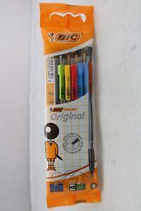 BIC Matic Original 5 x 0.7mm Mechanical Pencils, Colourful Pocket Clips