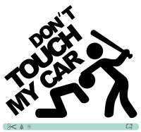 DONT TOUCH MY CAR Sticker bomb OEM JDM style DUB Tuning Aufkleber #