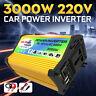 2USB Convertisseur 300 W/3000W DC 12V à AC 220V Puissance Onduleur Multifonction