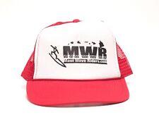 Maui Rave Riders Snapback Trucker Hat Cap Surf, Red and White Free Shipping