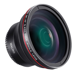 Neewer 58MM 0.43x Professional HD Wide Angle Lens (Macro Portion) for Canon EOS